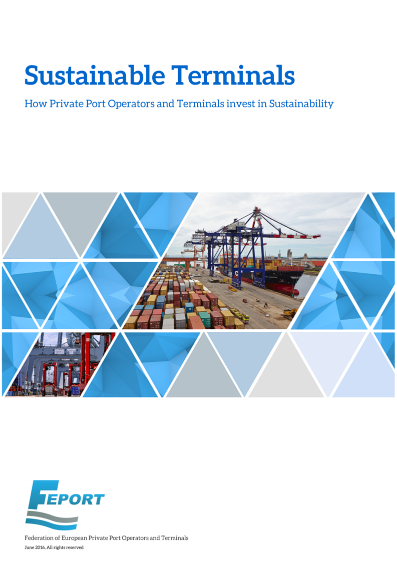 FEPORT Sustainable Terminals Brochure frontpage