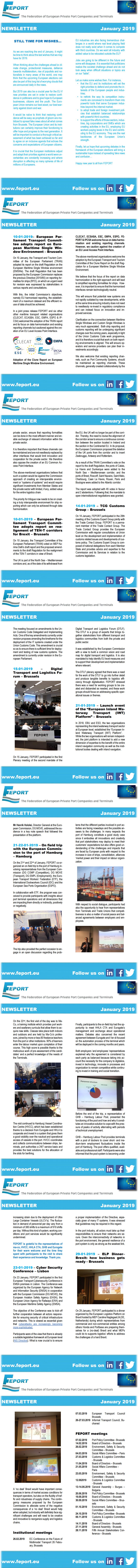 FEPORT newsletter January 2019 final 2