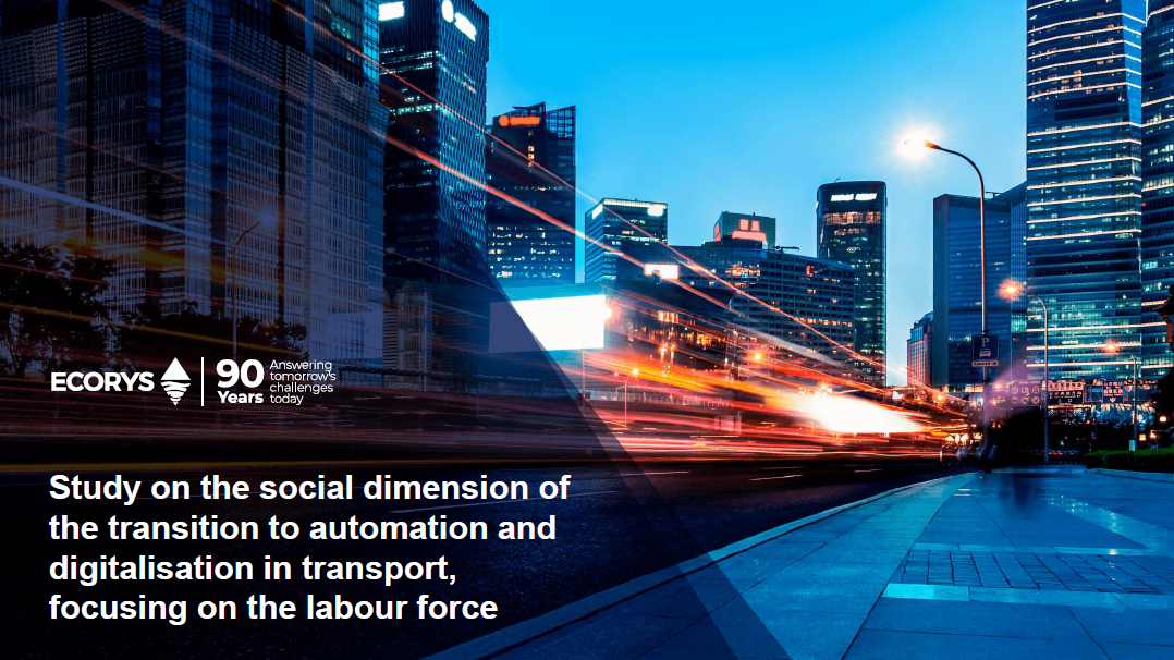 workshop on the social dimension of the transition to automation and digitalisation focusing on the transport labour force