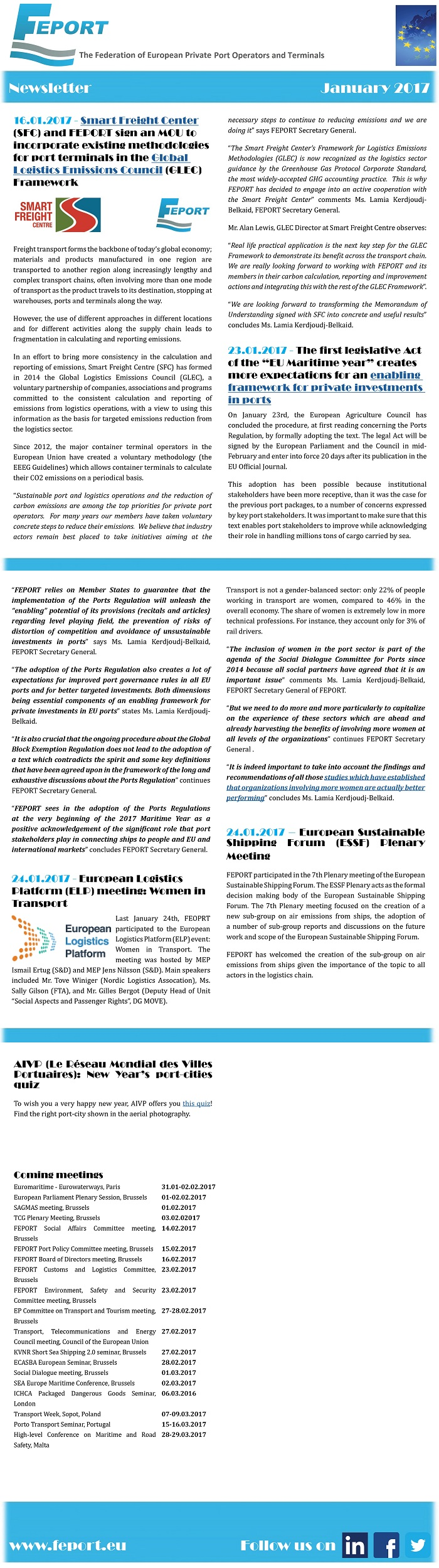 FEPORT External Newsletter January 2017alll