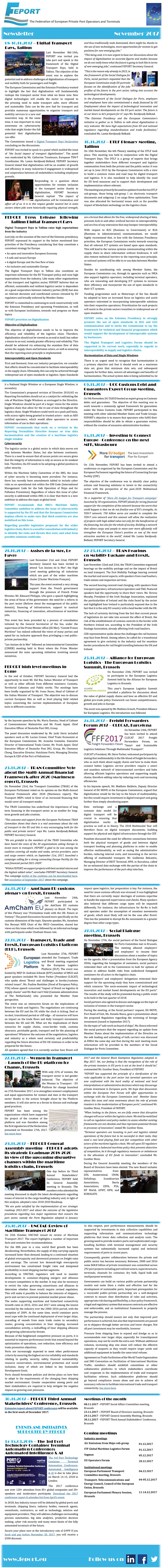 FEPORT External Newsletter November 2017alls
