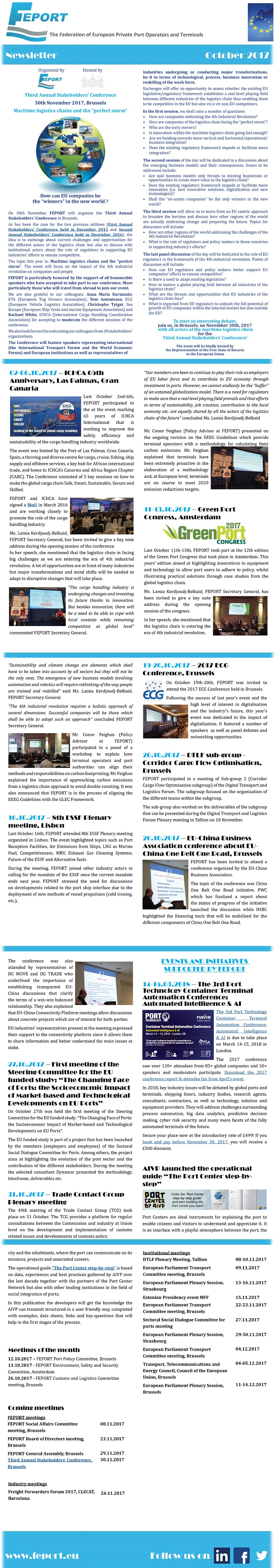 FEPORT External Newsletter October 2017alls